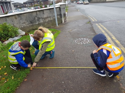 measuring the footpath