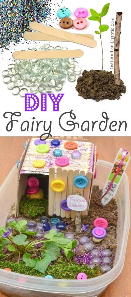 DIY Outdoor Fairy Garden for kids. A ton of DIY super easy kids crafts and activ. - kids crafts - DIY Outdoor Fairy Garden for kids. A ton of DIY super easy kids crafts and activities for boys and - Kids Fairy Garden, Fairies Garden, Children Garden, Easy Garden, Fairy Houses Kids, Garden Fun, Diy Y Manualidades, Activities For Boys, Outdoor Activities For Toddlers