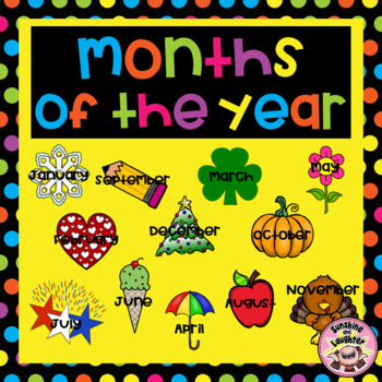 Months of the Year/Seasons by Sunshine and Laughter by Deno | TpT